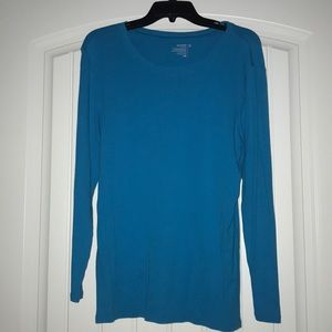 Blue long-sleeve shirt
